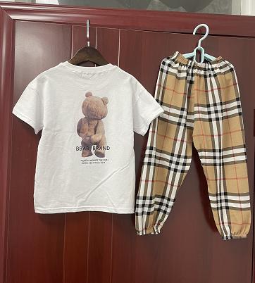 女童新款休闲时髦洋气纯棉两件套
