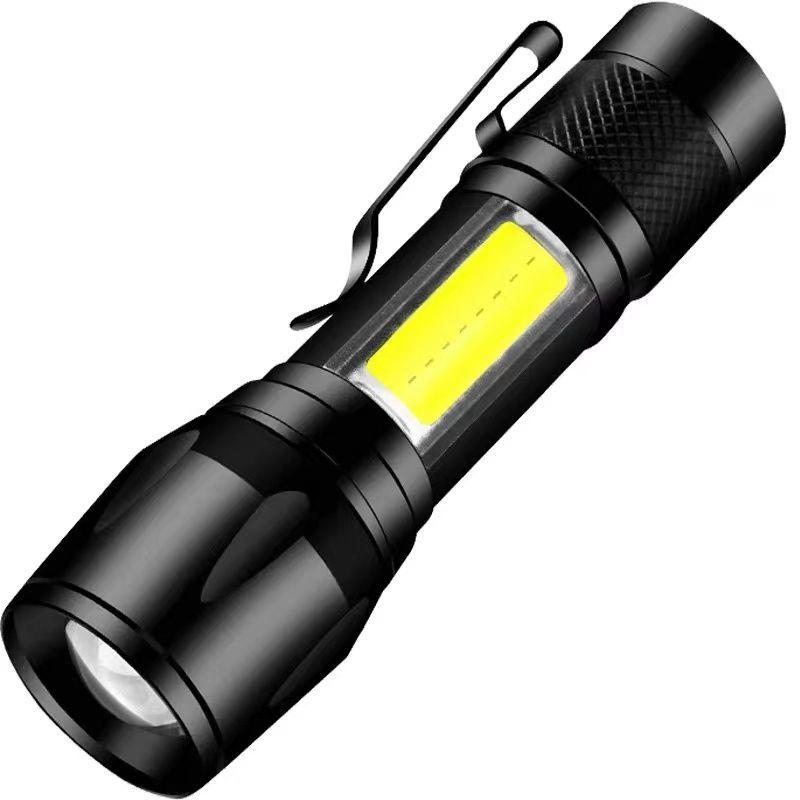超亮小型便携式学生手手电筒强光可充电