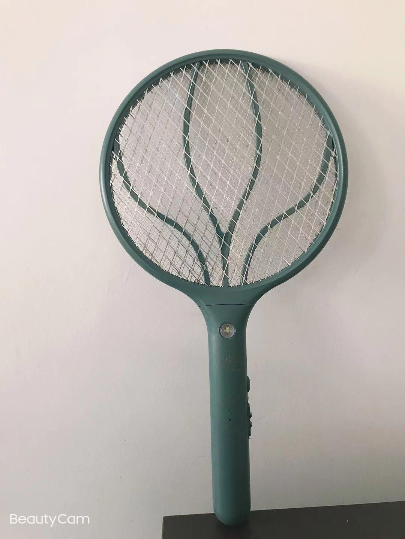 家用充电式强力灭蚊灯二合一电蚊拍