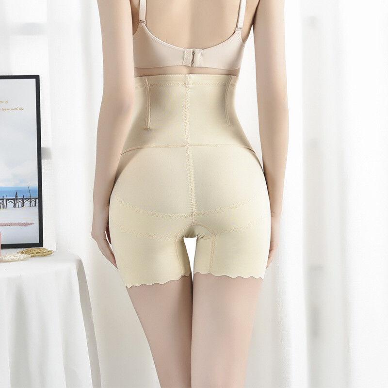 高腰收腹裤女内裤冰丝夏季瘦身衣塑身安全裤