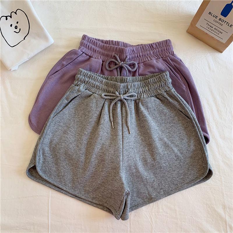 新款外穿大码家居睡裤子显瘦宽松阔腿短裤