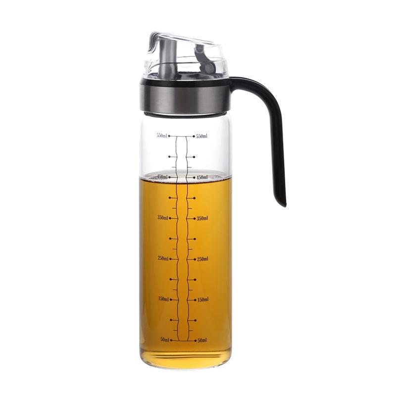 欧式高硼硅耐热自动开合油壶厨房家用油瓶