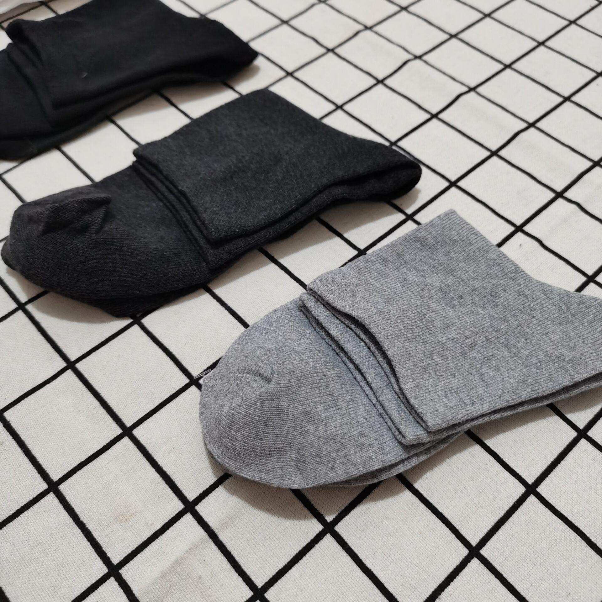 黑标浪莎袜子男5双 精梳棉袜新疆棉袜
