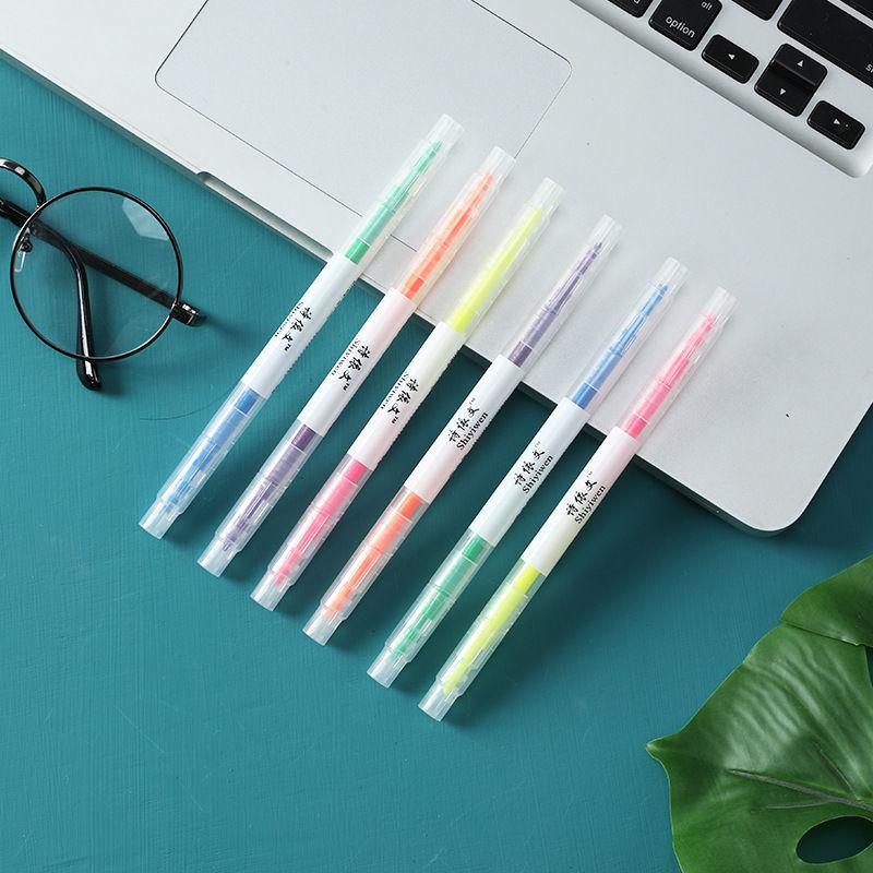 12色6支套装荧光套装标记笔记号笔