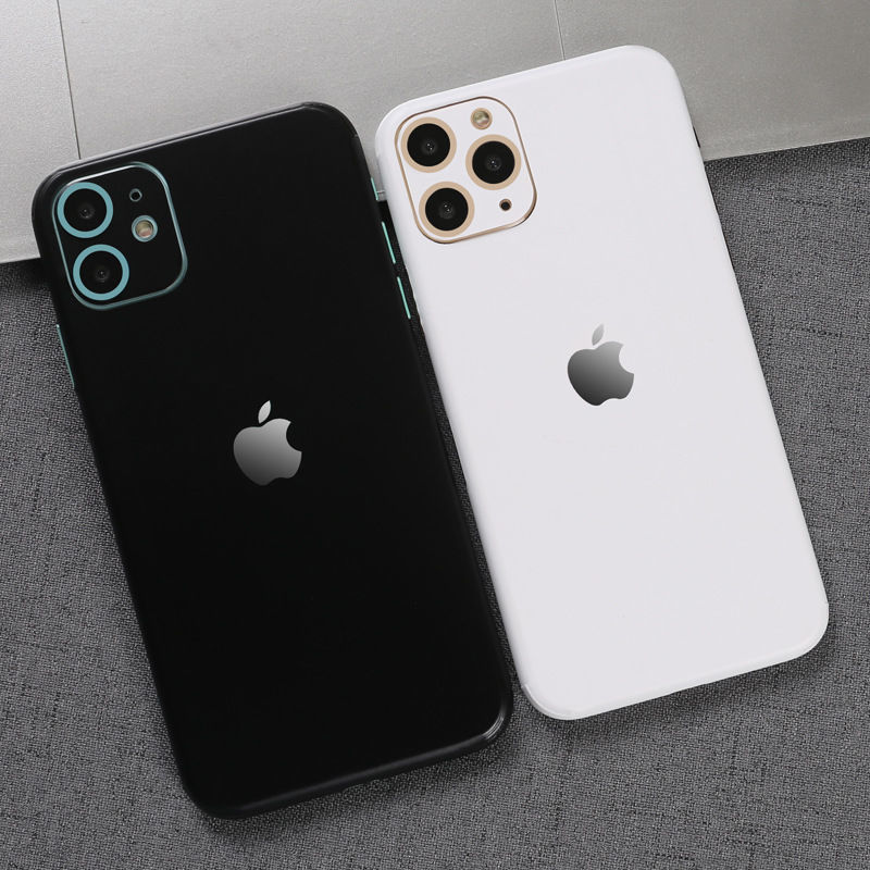 苹果11/12全包边后膜手机改色彩膜贴纸