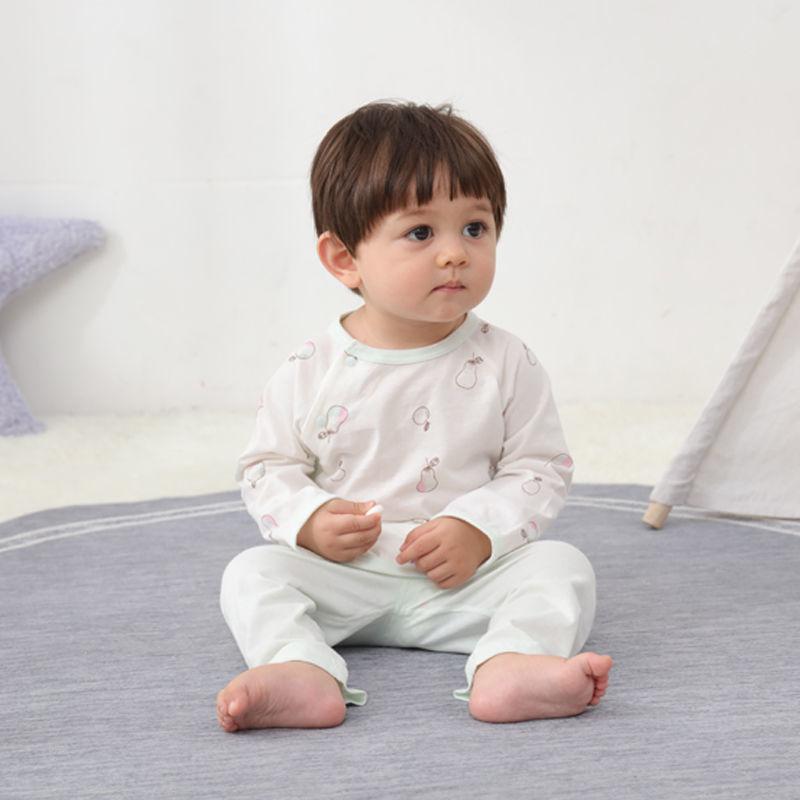 新生婴儿侧开纯棉空调服.