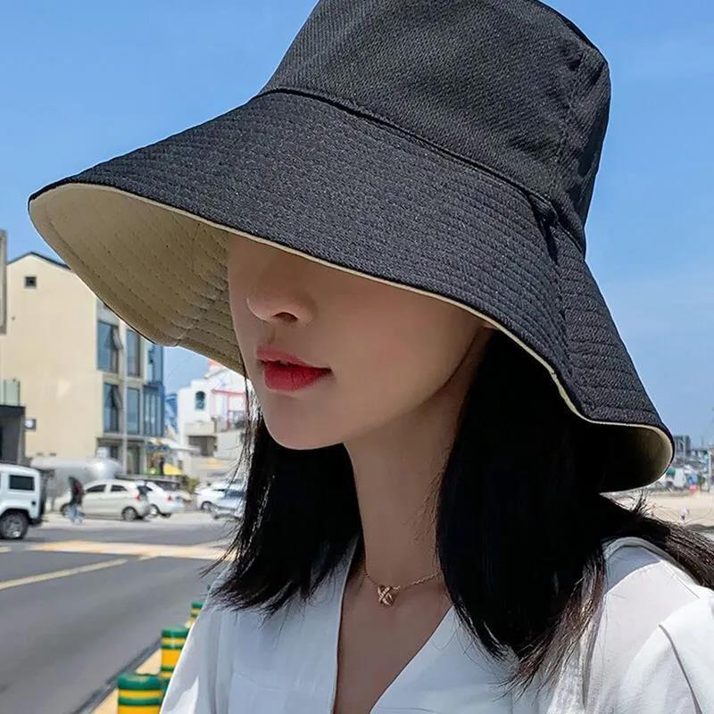 渔夫帽女春夏韩版潮日系双面防紫外线帽子