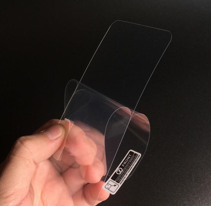 苹果透明后磨砂软膜防指纹