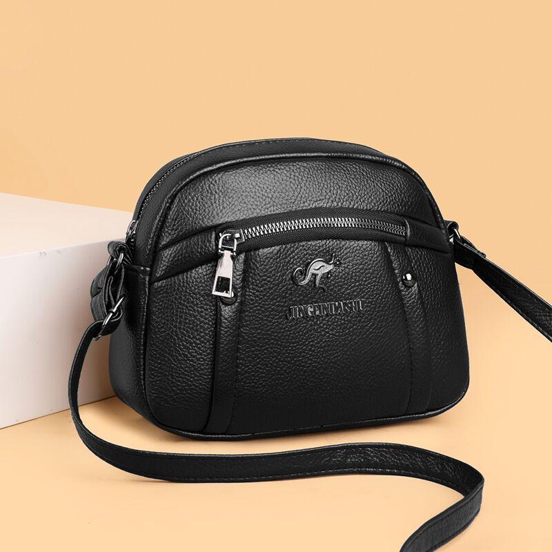 袋鼠真皮大容量包包, 立体空间,实用能装