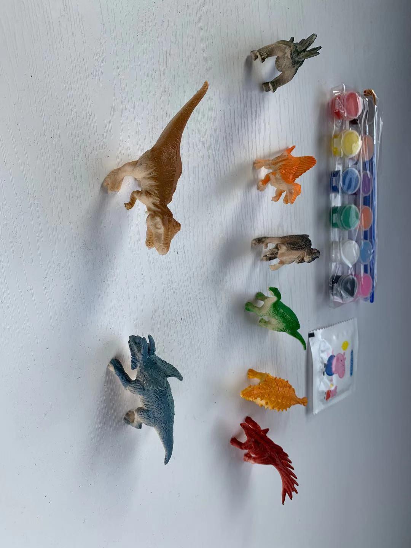 DIY非石膏恐龙涂鸦彩绘