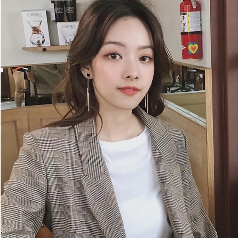 网红韩国时尚气质新款防过敏耳环耳线甜美长