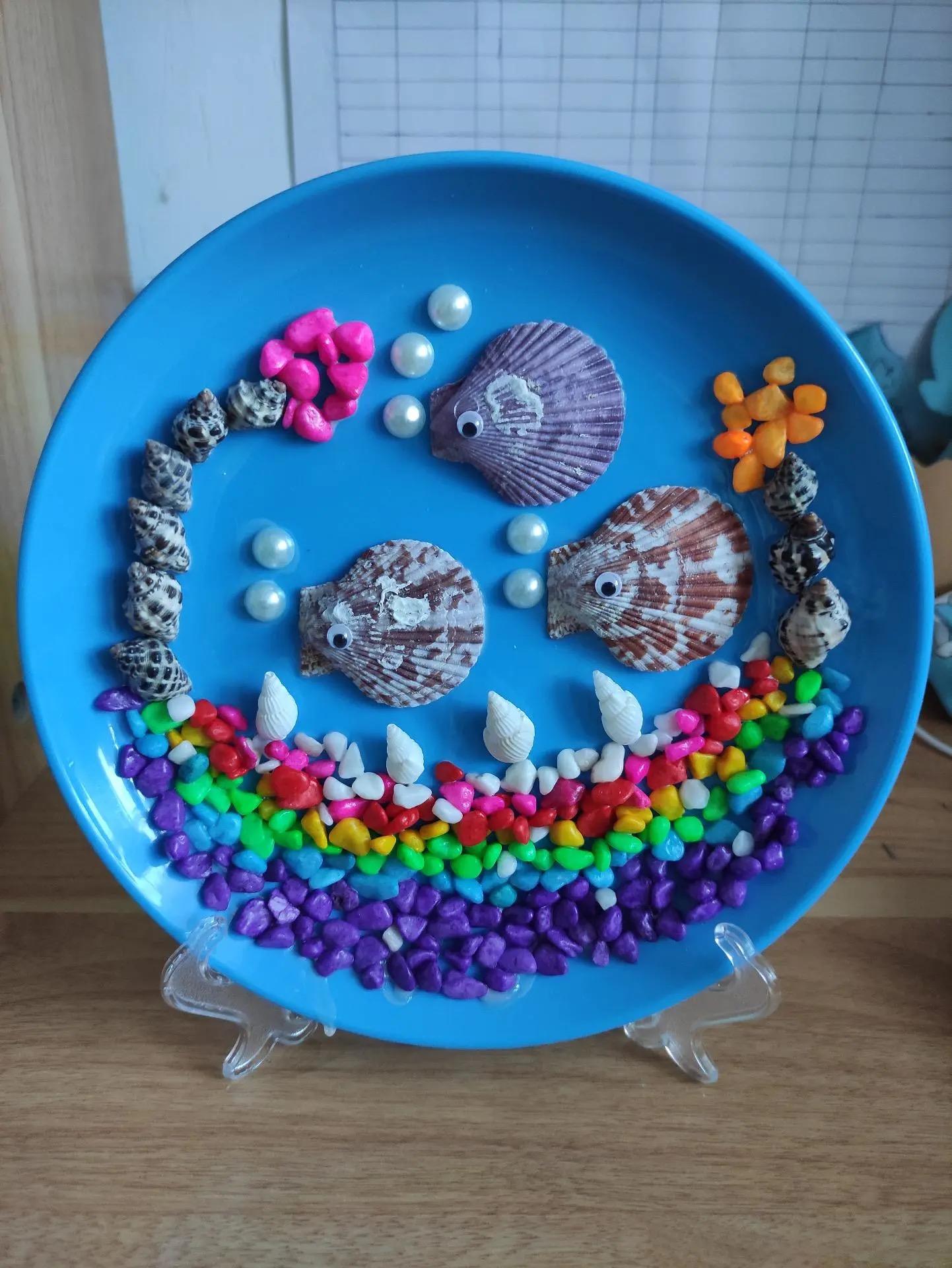 贝壳画儿童手工艺术diy玩具套装