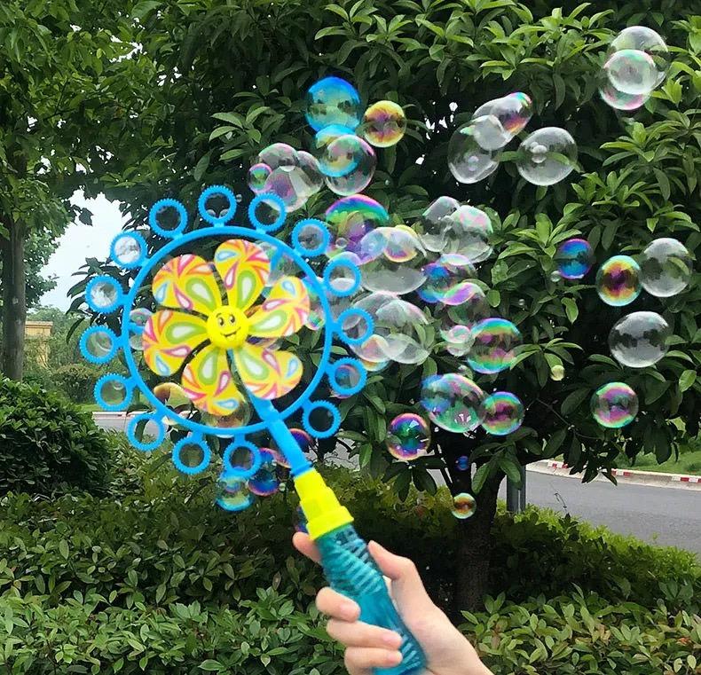 儿童电动加特林泡泡枪全自动8孔出泡泡机