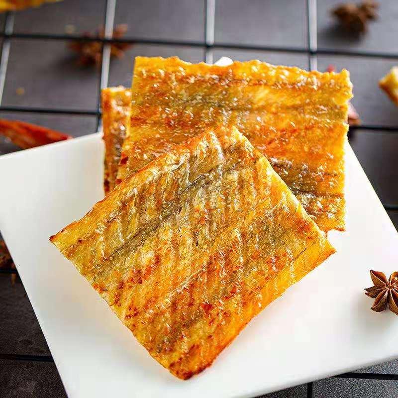 海狸先生香烤鳗鱼片现烤休闲零食