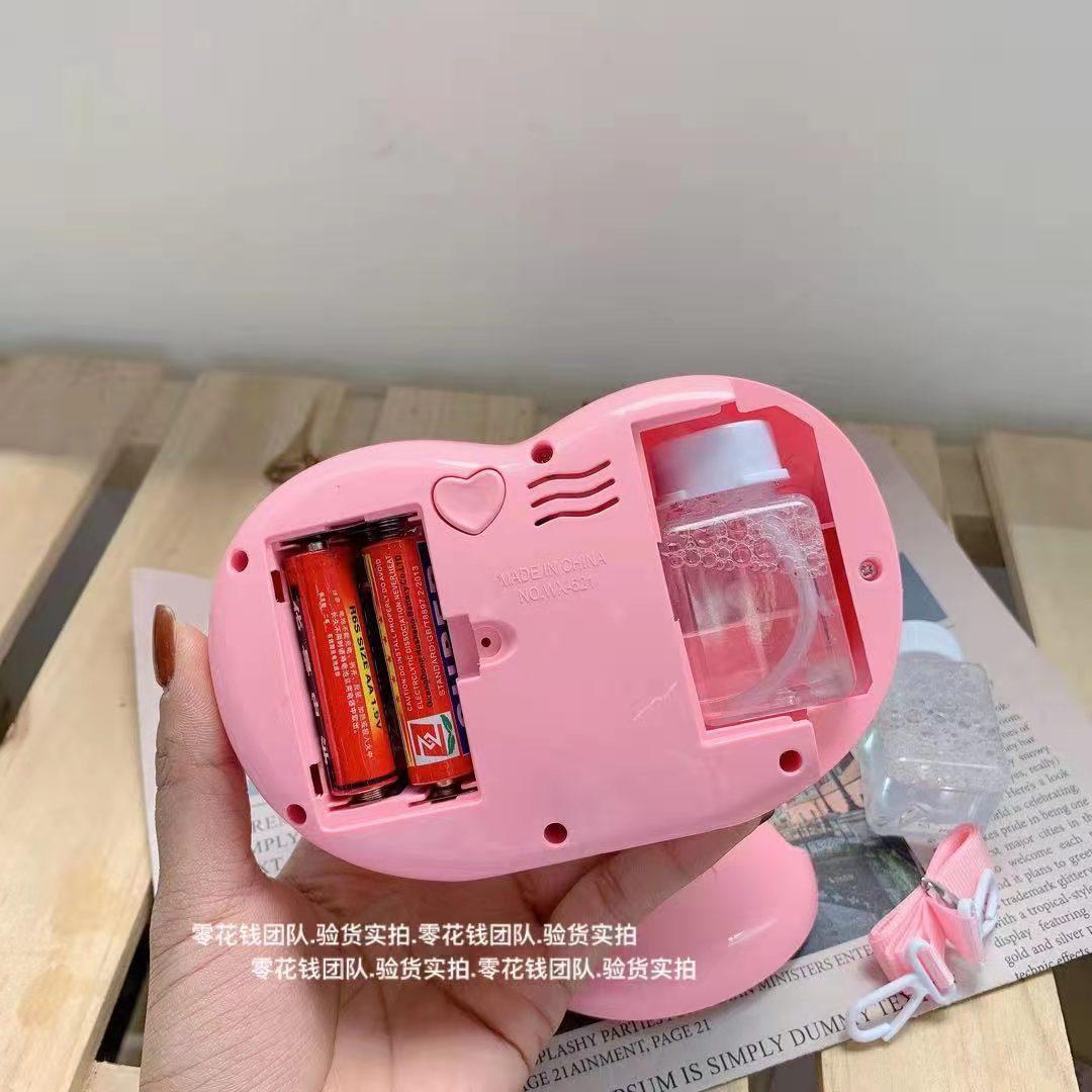 网红爱心天使泡泡相机抖音同款吹泡泡全自动