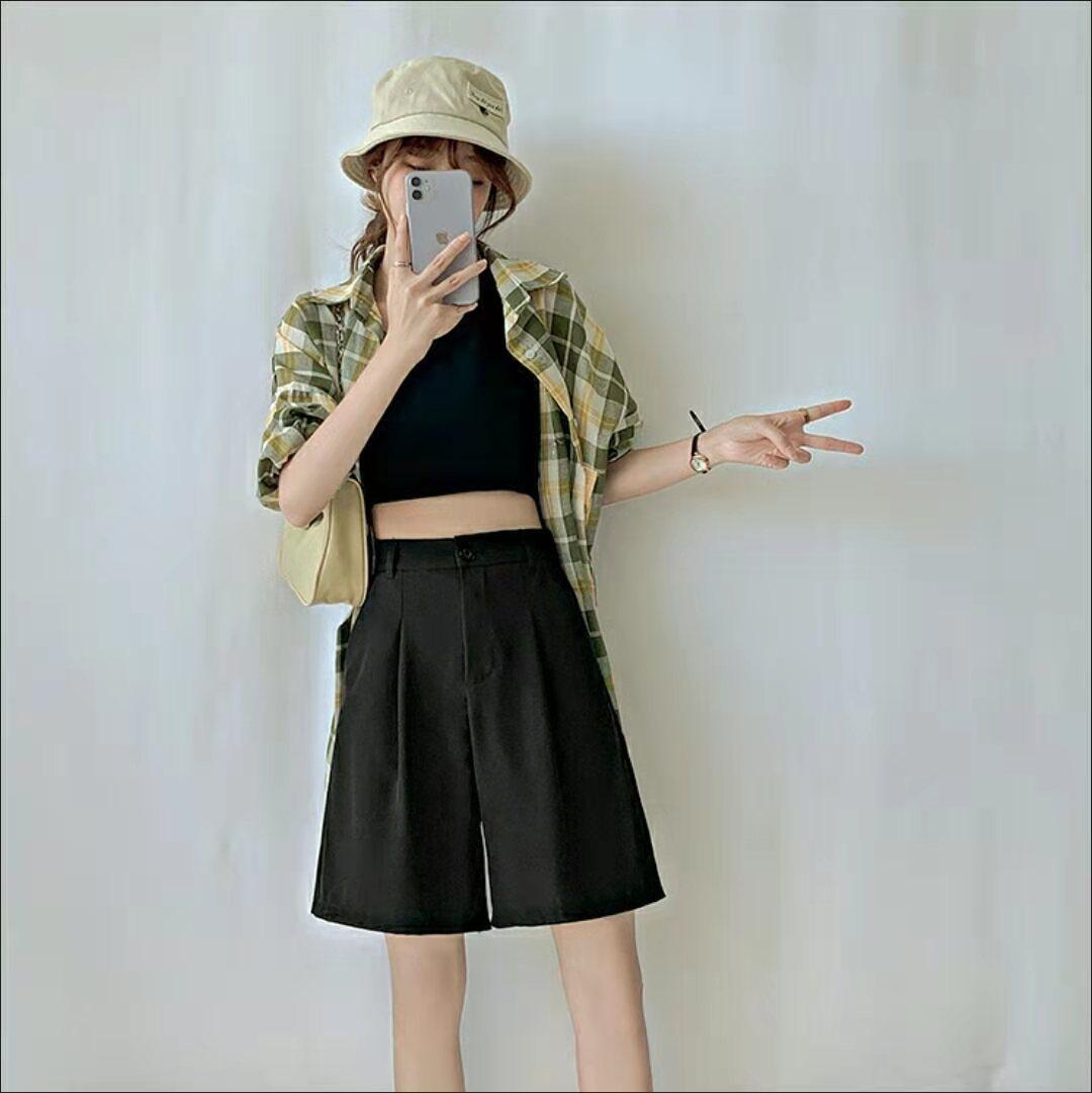大码西装短裤子女夏季新款宽松百搭