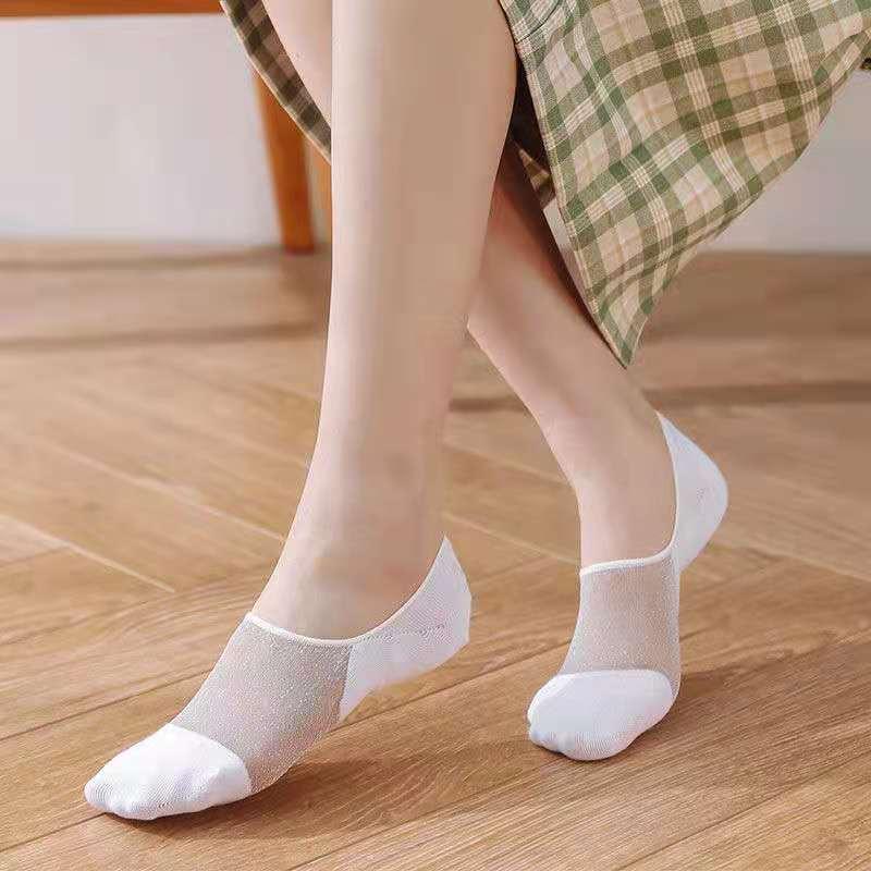 袜子女棉底丝袜船袜韩版浅口净版