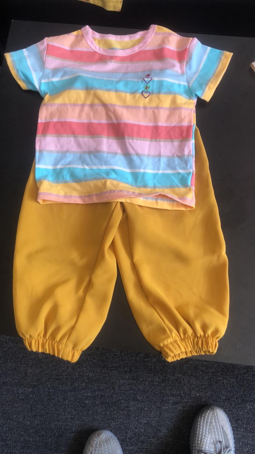 洋气短袖两件套小女孩韩版休闲夏装