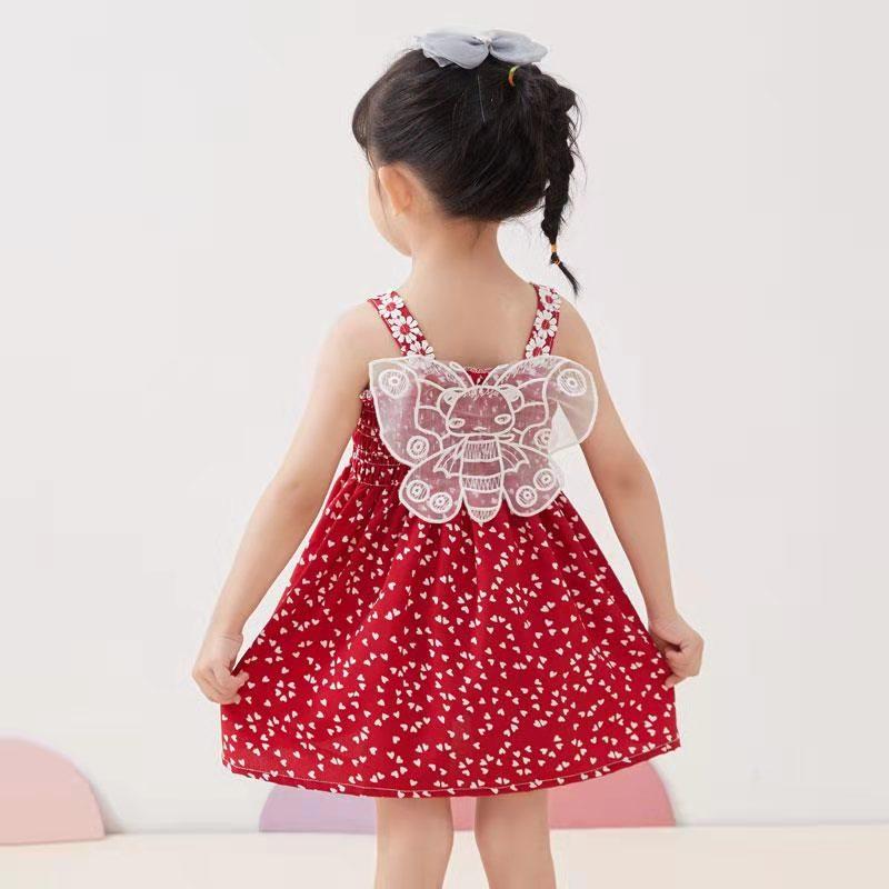 女童连衣裙夏装新款儿童吊带裙公主裙网红