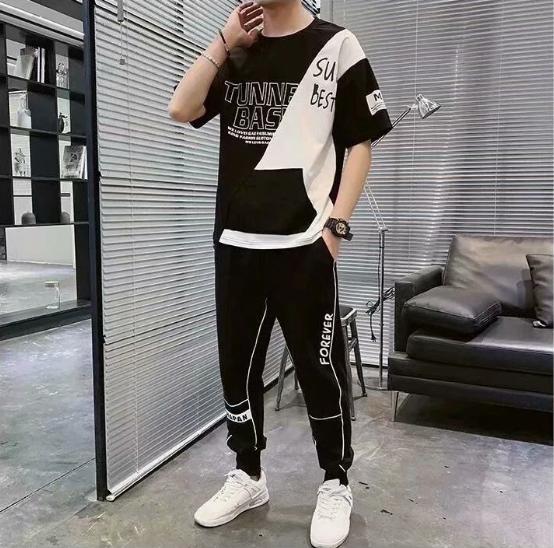 夏季短袖休闲裤套装男潮流时尚百搭