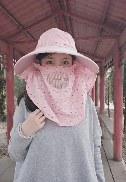 遮阳帽子女夏季防晒太阳帽子大沿户外凉帽