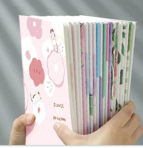 高颜值韩版ins小笔记本5本