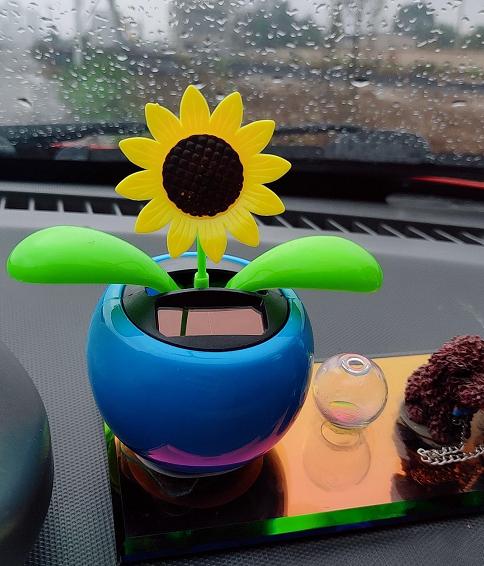【汽车摆件】太阳能摇头花车载装饰