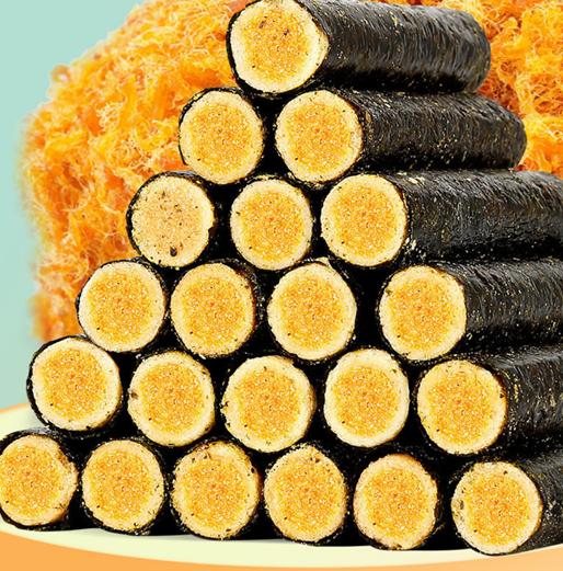 超划算肉松海苔蛋卷夹心脆