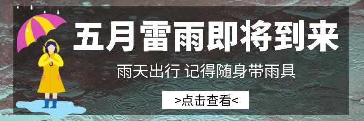 【合集】五月雷雨即将到来,出行记得带雨具