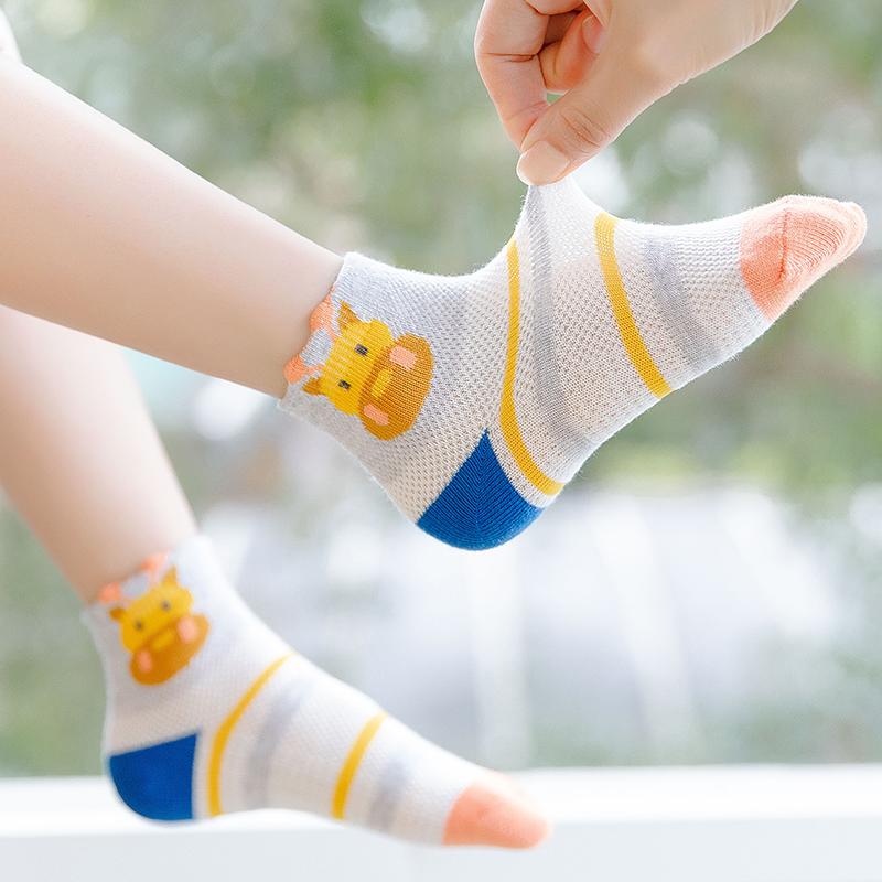 男童袜子纯棉秋冬中筒袜儿童宝宝短袜1-3-5-7-9-12岁小孩子学生袜