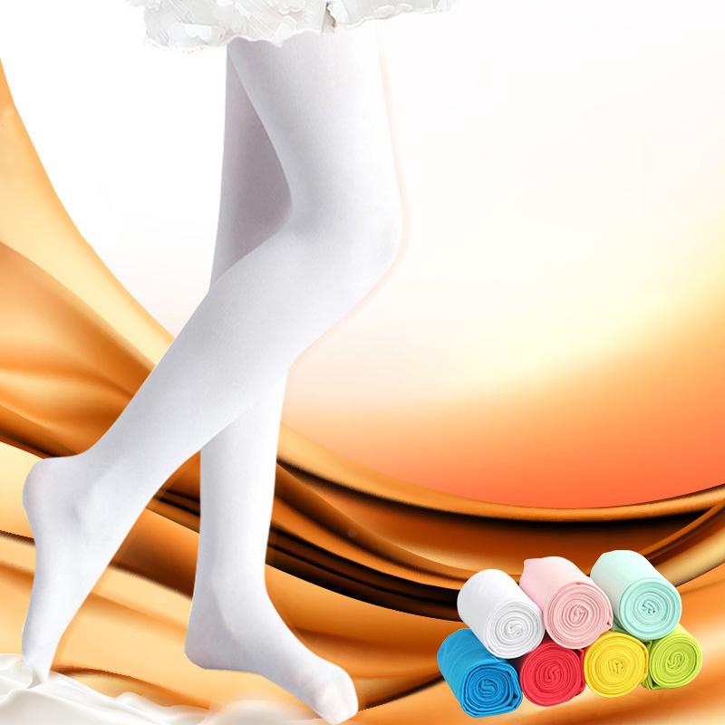 儿童连裤袜春夏女童打底裤宝宝白色丝袜薄学生舞蹈袜女孩袜子