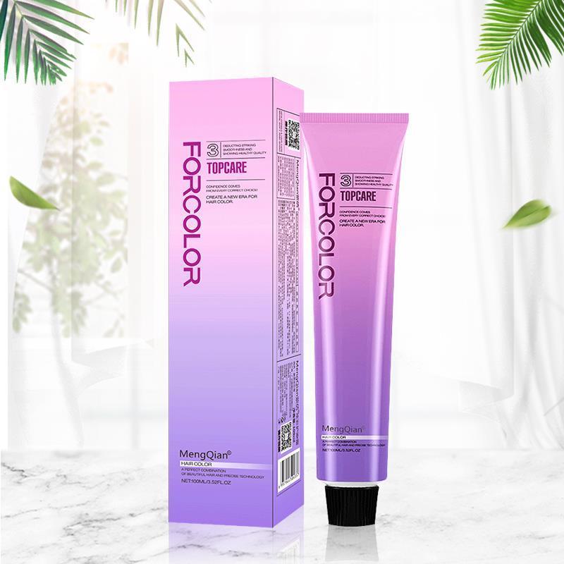 蓝黑茶色染发剂2021新款流行色泡泡纯自己在家染头发膏女显白植物