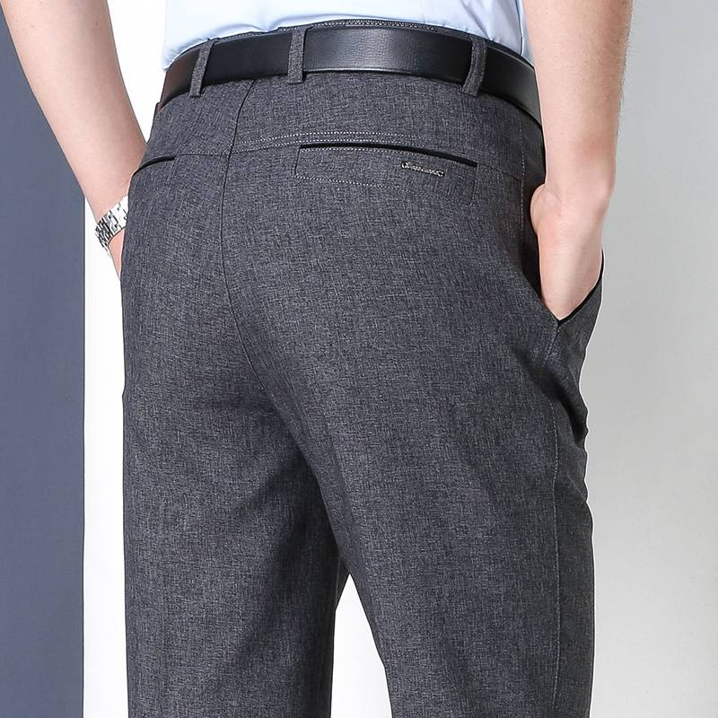 羊羔绒加绒加厚爸爸装中年男士休闲西裤50岁冬季中老年人棉裤子男