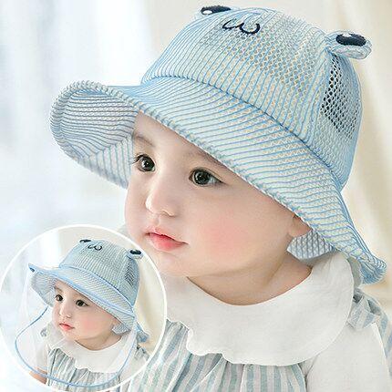 婴儿帽子秋冬季加厚婴幼儿童防护飞沫宝宝遮阳渔夫帽春秋可爱超萌
