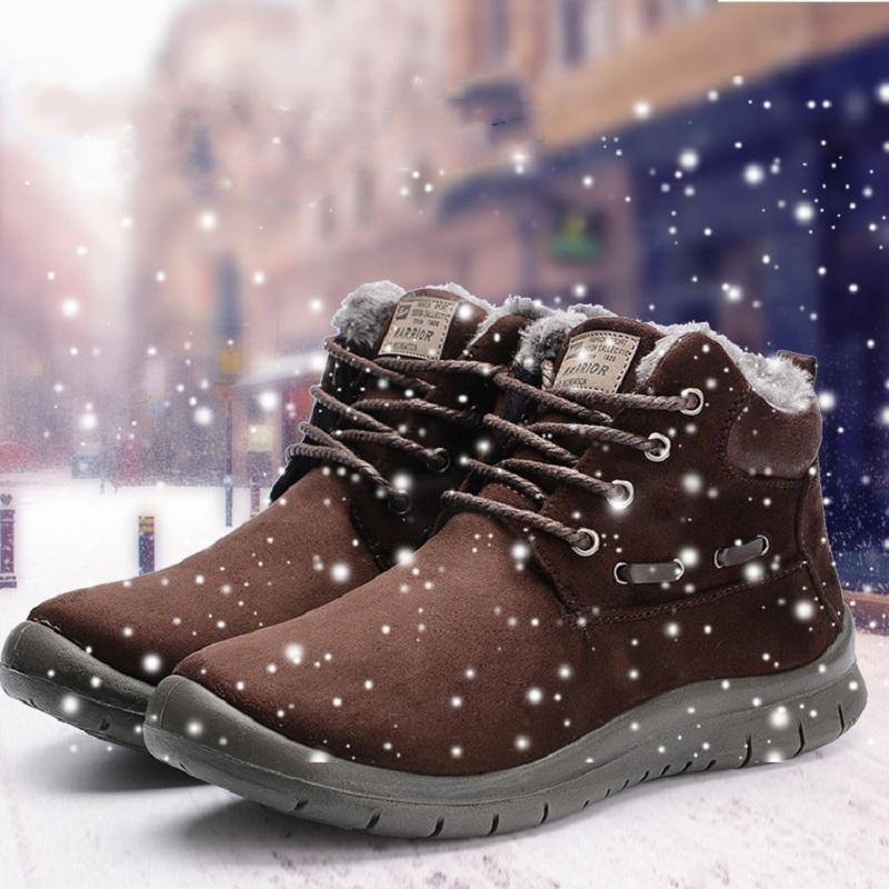 回力雪地靴男冬季保暖加绒男士靴子2020新款短靴男防水防滑棉鞋男