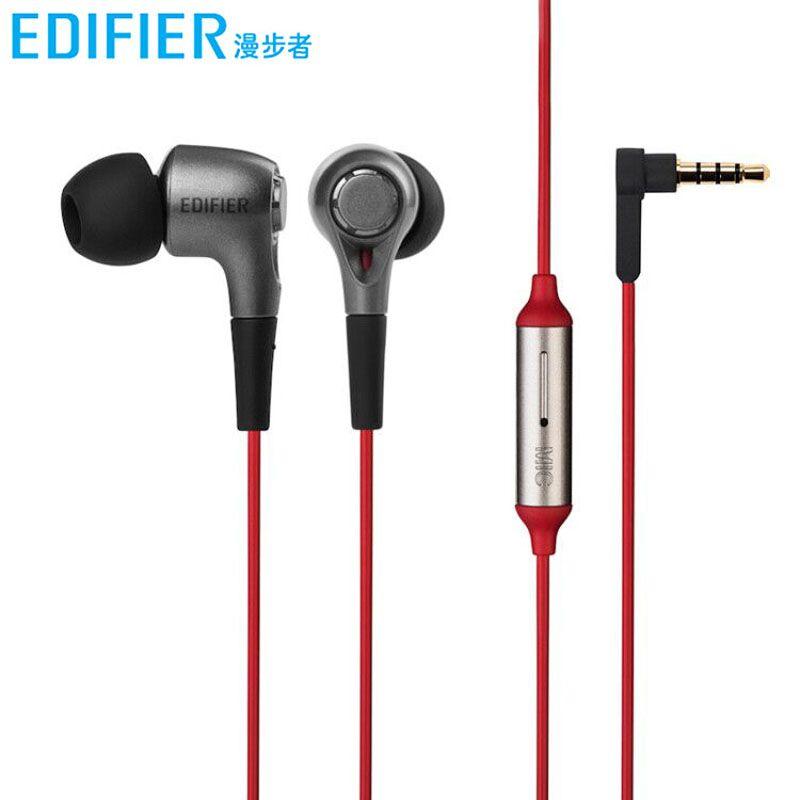 Edifier/漫步者 H230P入耳式耳机有线控带麦通用重低音炮手机耳塞