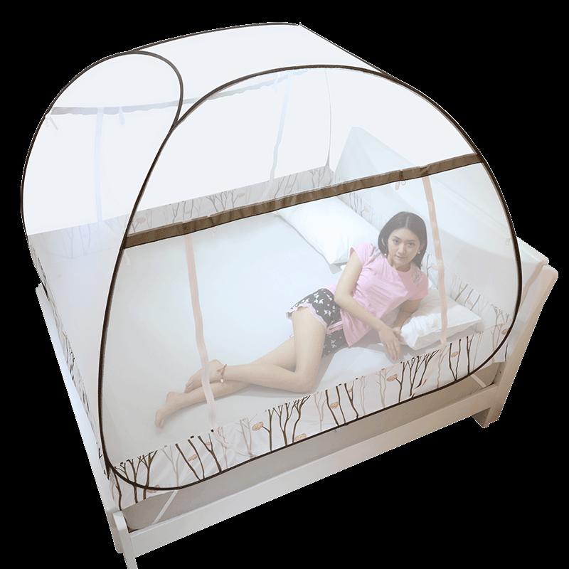 蒙古包免安装学生1.2米1.5新款公主风加密折叠蚊帐1.8m床双人家用