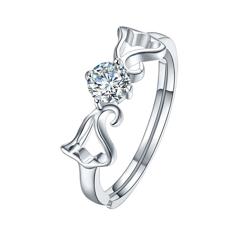 纯银情侣戒指女时尚个性戒指女ins潮dw戒指小ck戒指情人节礼物