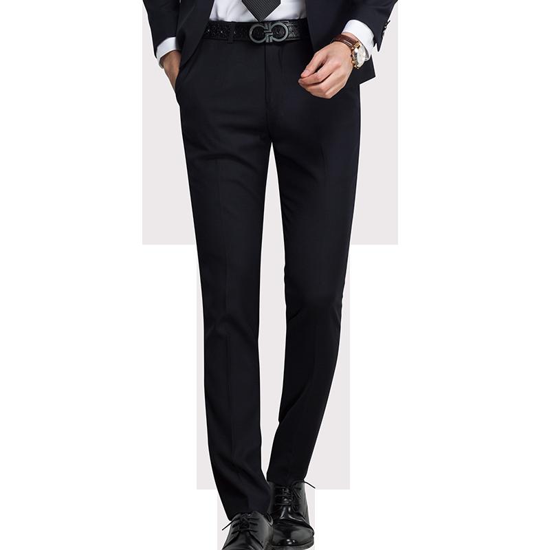 西裤男春季新款韩版修身免烫商务黑色小脚裤休闲职业西装裤男长裤