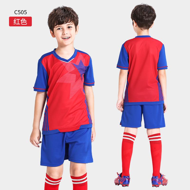 儿童足球服套装运动小学生男童女童训练服队服定制印字球衣男孩