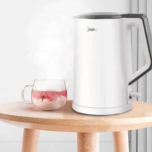 【美的】304不锈钢电热水壶1.5L