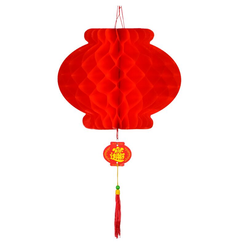 春节元旦大红连串灯笼户外防水广告定制印字冬瓜长新年小灯笼挂饰