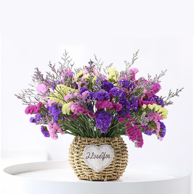 满天星干花花束干花装饰摆件家居客厅摆设大束自然风干花束含花瓶