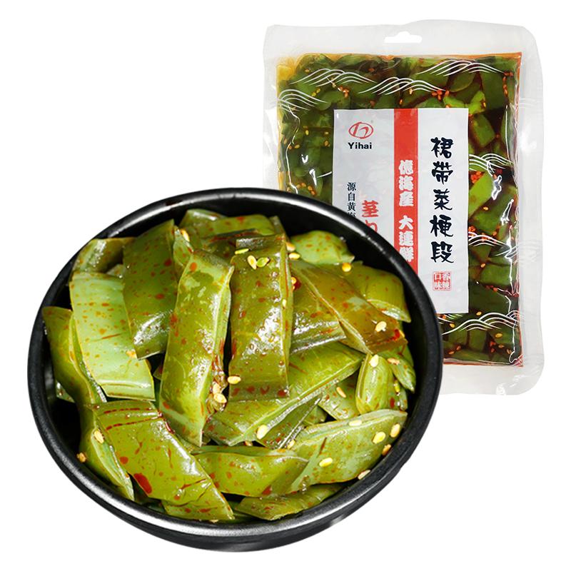 亿海裙带菜海白菜300g*2袋香辣梗段新鲜即食小菜凉拌菜大连特产