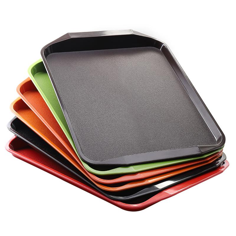 加厚商用塑料防滑托盘中式长方形快餐盘酒店餐具肯德基食堂餐盘子