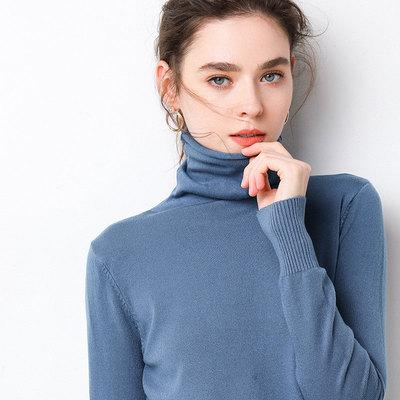 【品牌清仓】第二件0元羊毛衫堆堆领短款宽松高领套头打底针织衫