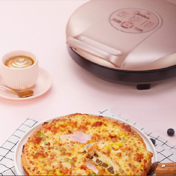 美的电饼铛档家用双面加热烙饼锅煎饼锅自动加热加深加大煎烤智能
