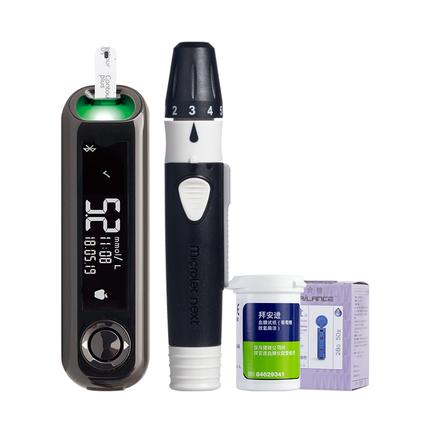 Contour拜耳优安进血糖测试仪家用精准智能测血糖的仪器血糖试纸