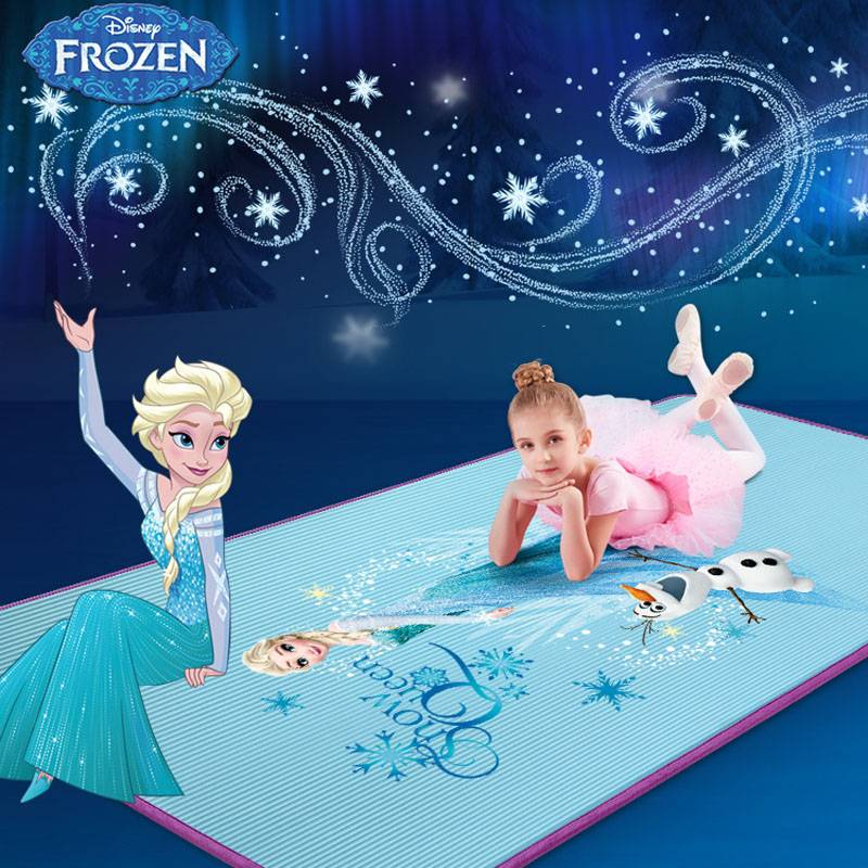 迪士尼双人瑜伽垫跳舞蹈垫练功女加厚加宽加长防滑地垫珈儿童家用