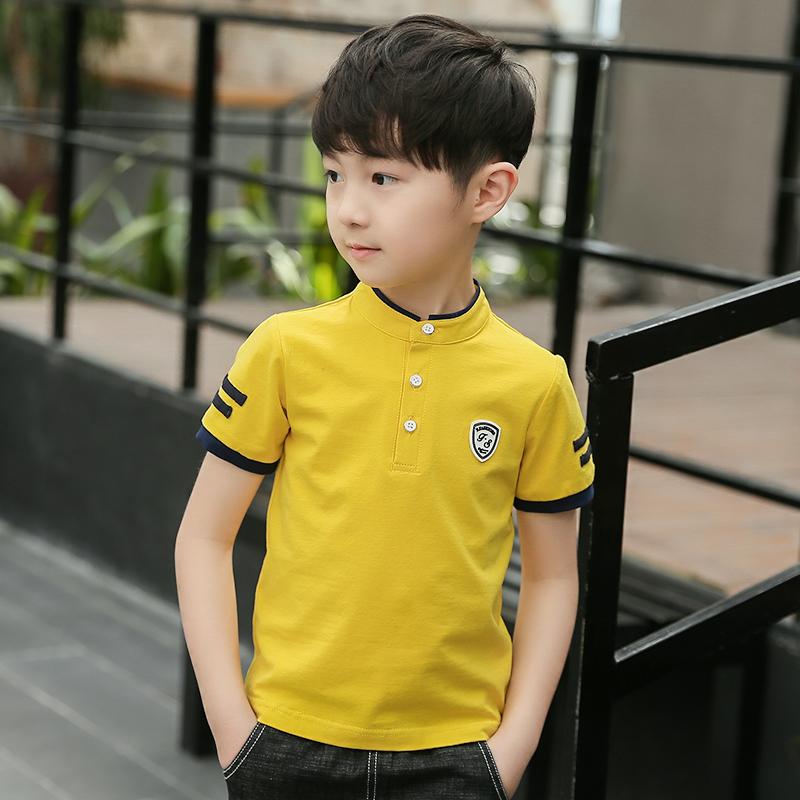 童装男童夏季polo衫短袖t恤2021新款儿童洋气夏上衣中大童韩版潮